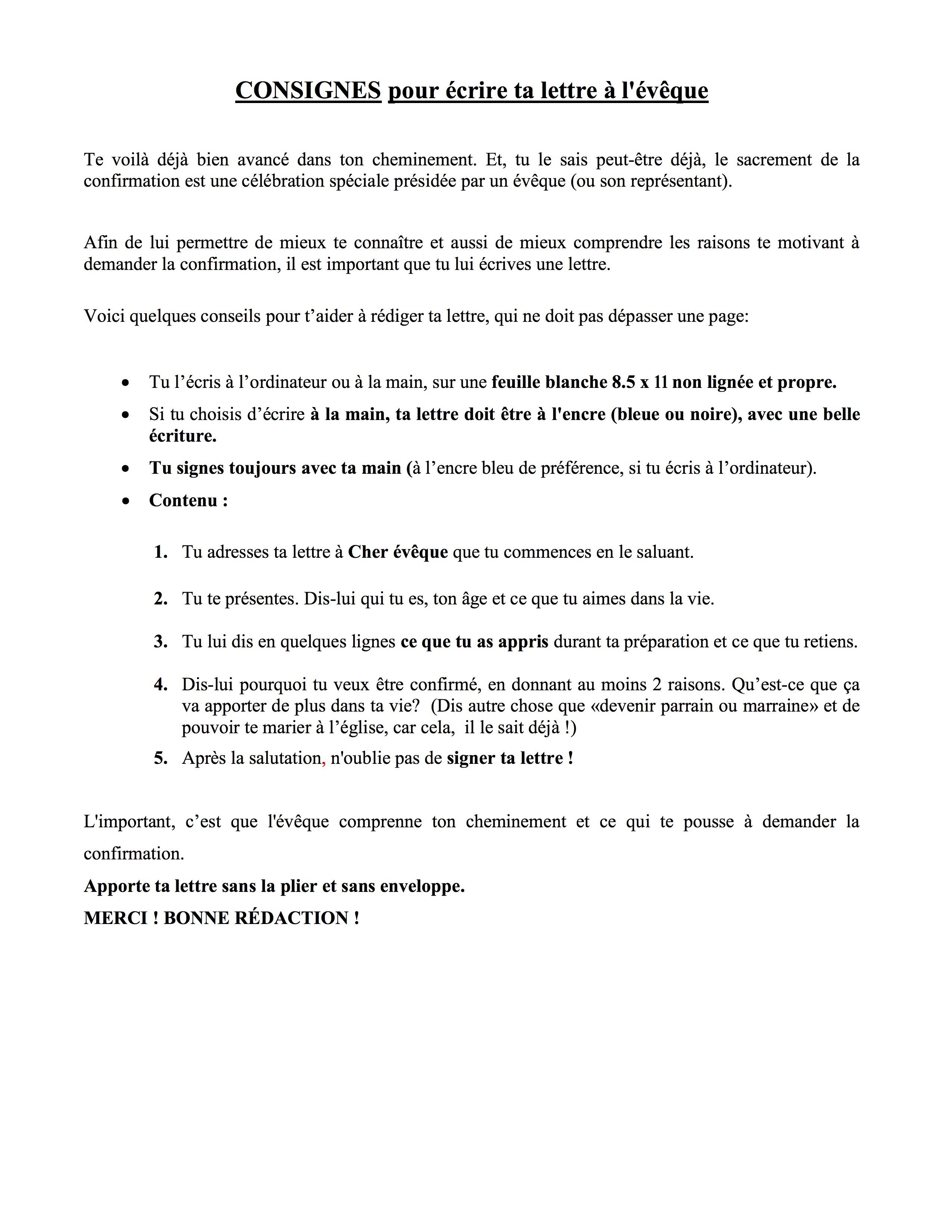 Favori Lettre à l'évêque | PAROISSE SAINT-NICOLAS-DE-LÉVIS RF98